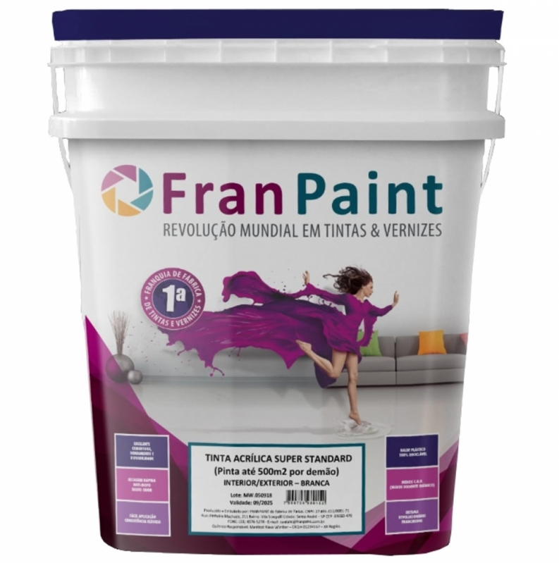 Distribuidor de Tinta Latex Branco Gelo Santa Rosa - Tinta Latex para Parede