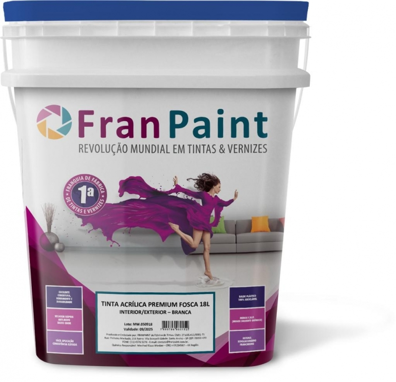 Tinta Latex 3,6 Litros Pinhais - Tinta Latex Branca 18 Litros